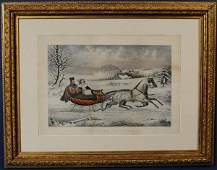 103 CURRIER  IVES The Road Winter 17 38x 26 stone