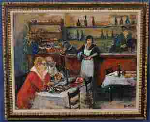 169: ARBIT BLATAS Chez Andre depicting the artist and R