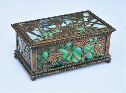 Tiffany Studios Bronze Humidor