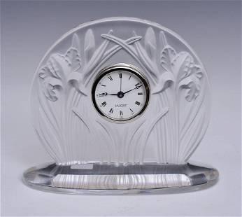 Lalique Daffodil Clock