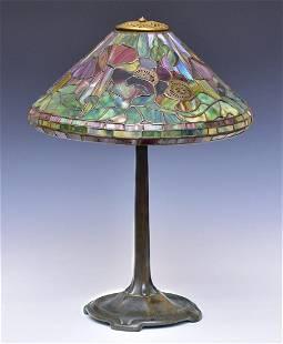 attributed to Tiffany Studios Poppy Lamp