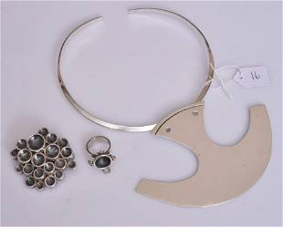 Modernist Sterling Silver Jewelry