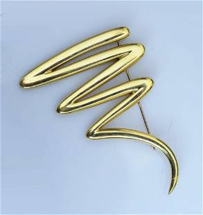 18K Gold Paloma Picasso for Tiffany Brooch