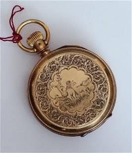 M. F. & Co. 14k Gold Pocket Watch
