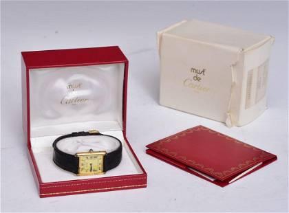 Must De Cartier Tank Wrist Watch
