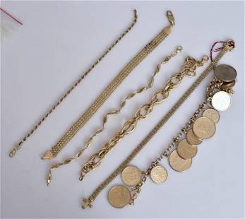14k Gold Bracelets (6)