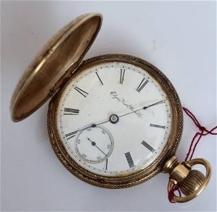Elgin 14k Gold Hunter's Case Pocket Watch