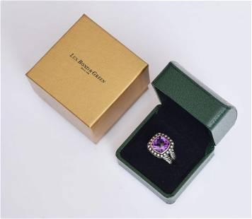 David Yurman Amethyst and Diamond Ring
