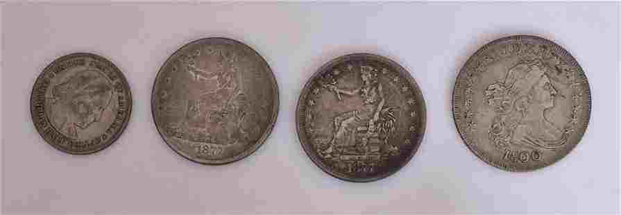 Four American 19th Coins