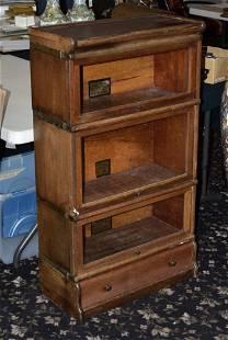 Globe-Wernicke Three Stack Mahogany Bookcase
