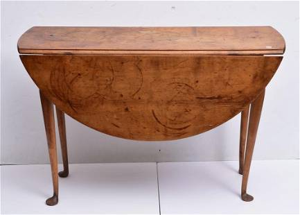 Queen Anne Maple Drop Leaf Table