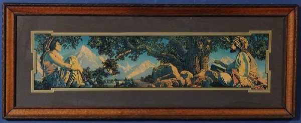 "11: MAXFIELD PARRISH The Rubyiant 7""x 30"" lithograph C."