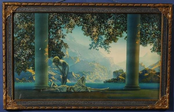 "12: MAXFIELD PARRISH Daybreak 18""x 30"" lithograph The H"