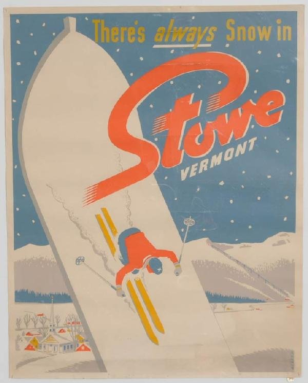 22: TRAVEL POSTER Sascha Mauer There's Always Snow in S