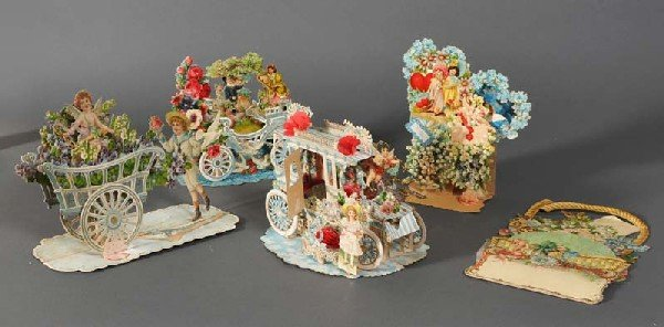 6: GROUP OF VICTORIAN VALENTINES including elaborate ex