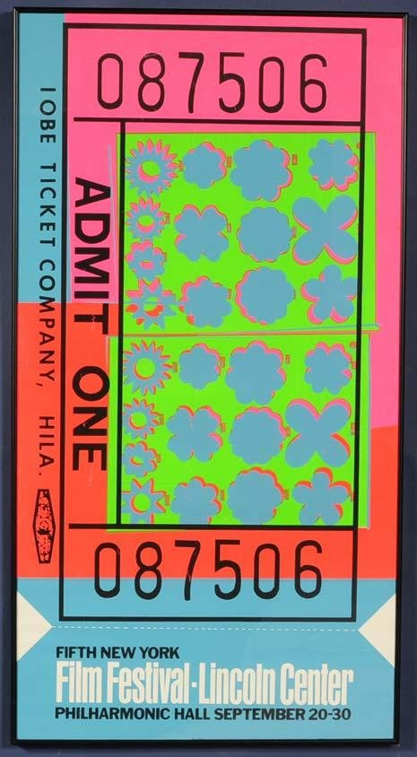 14: ANDY WARHOL Ticket Poster for Lincoln Center Film F