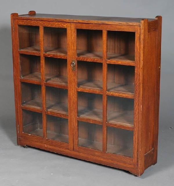 16: MISSION OAK BOOKCASE possibly Stickley Brothers wit