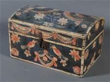 76: FOLK ART PAINTED BRIDES BOX in fine untouched origi