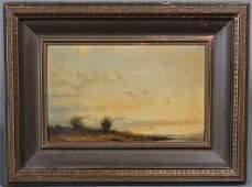 """123: ALBERT BIERSTADT A Western Sunset 7"""" x 11 1/2"""" (si"""