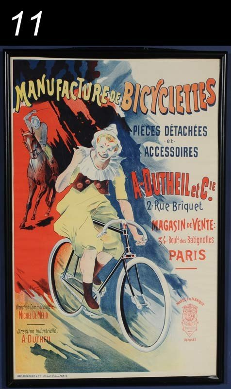 11: FRENCH BICYCLE POSTER Manufacture De Bicyclettes L.