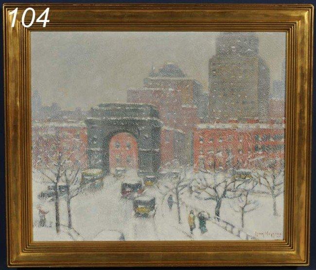 "104: GUY CARLETON WIGGINS Washington Square, 1935 20""x"