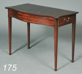 FEDERAL MAHOGANY SOFA TABLE With Unusual Side Draw