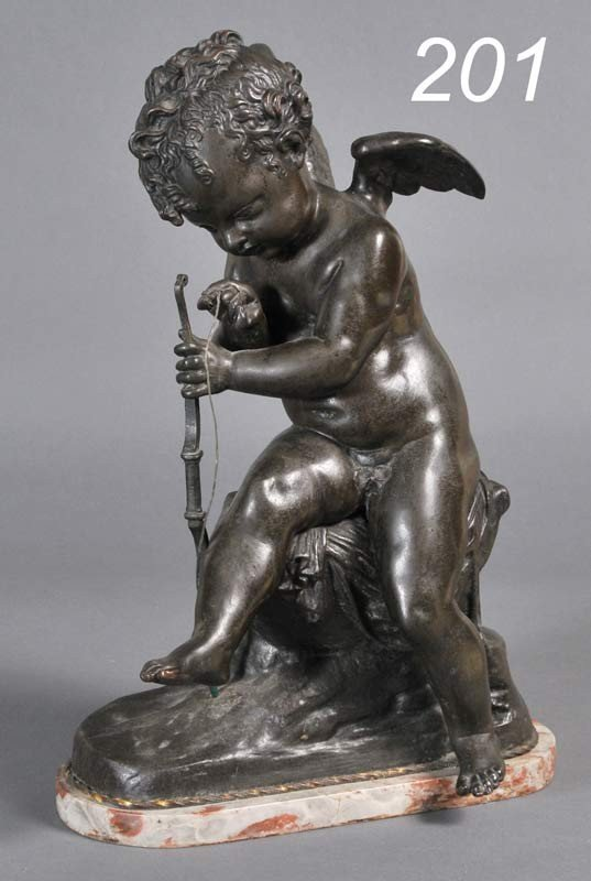 201: FRENCH BRONZE FIGURE OF CUPID after Charles Gabrie