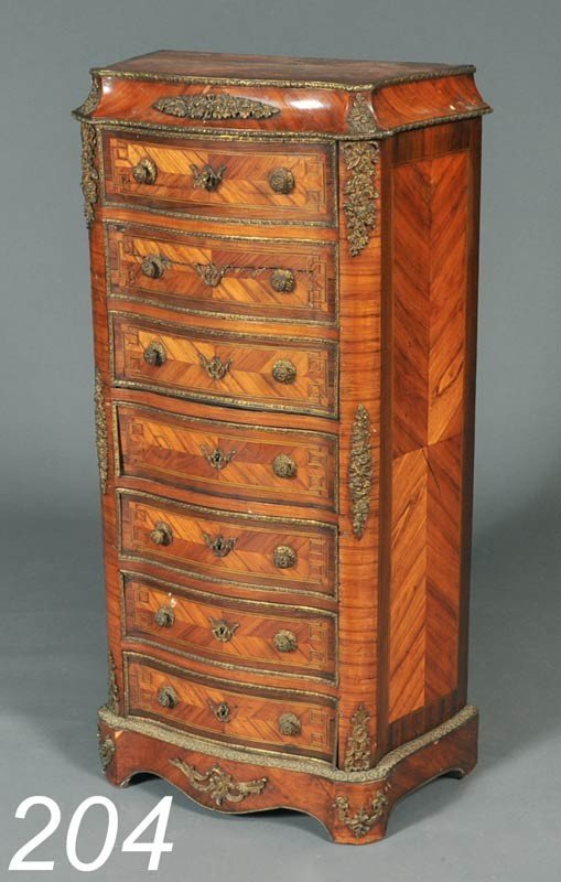 204: LOUIS XV STYLE SECRETAIRE A ABATTANT retailed by E