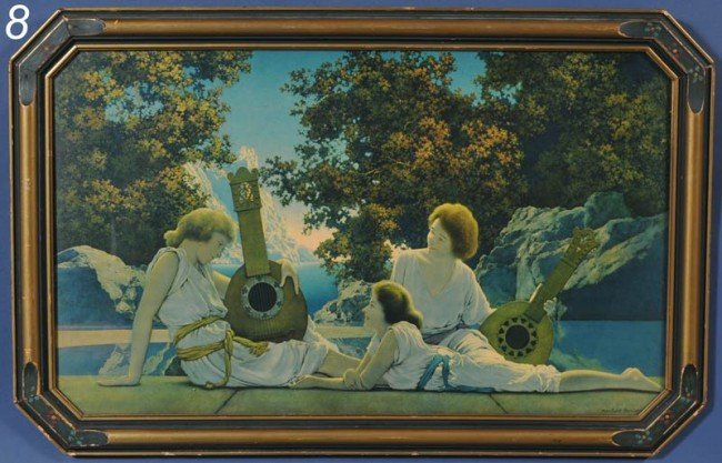 "8: MAXFIELD PARRISH The Lute Players, 18""x 30"" together"