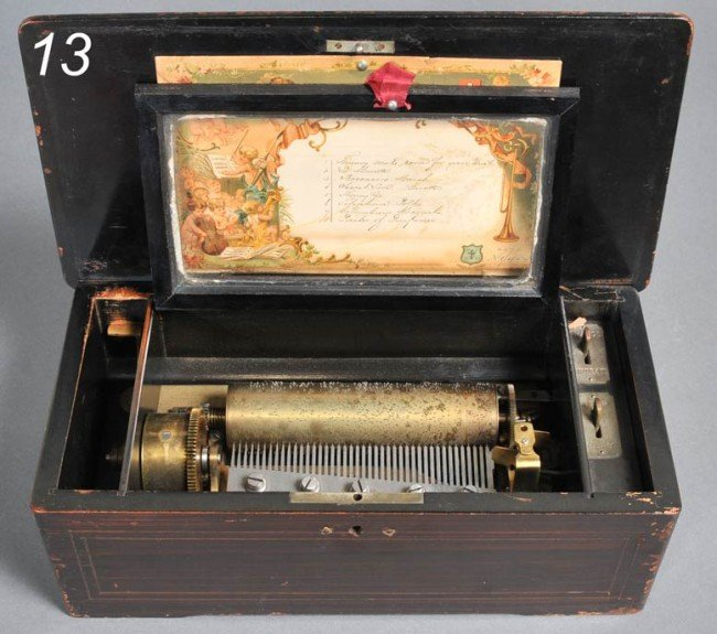 13: MERMOD FRERES MUSIC BOX playing 8 tunes with origin
