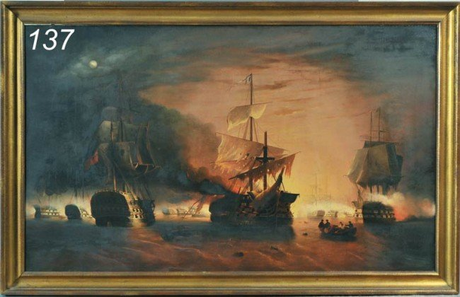 137: EDWARD WILLIAM COOKE The Moonlight Battle, Trafalg