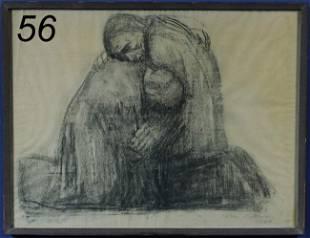 "56: KATHE KOLLWITZ Die Eltern (Nagel 847) 16 1/4""x 21 1"