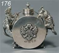176: RUSSIAN SILVER INKWELL hallmarked Johann Fridrik A