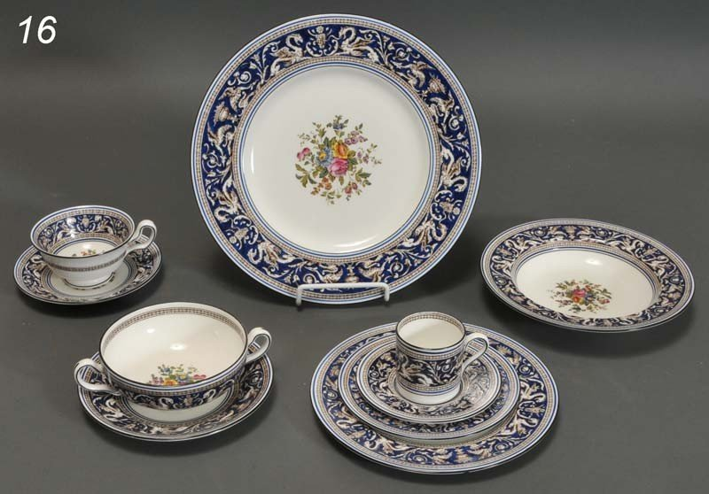 16: WEDGEWOOD PARTIAL DINNER SERVICE approximately 110