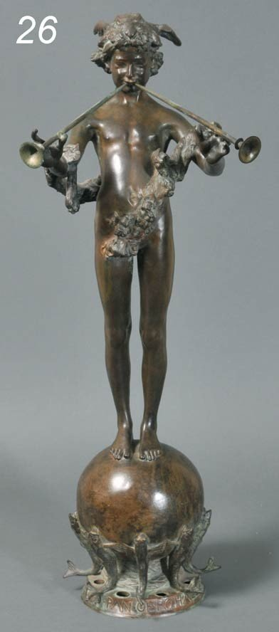 "26: FREDERICK MACMONNIES Pan of Rohallion 29 5/8"" bronz"