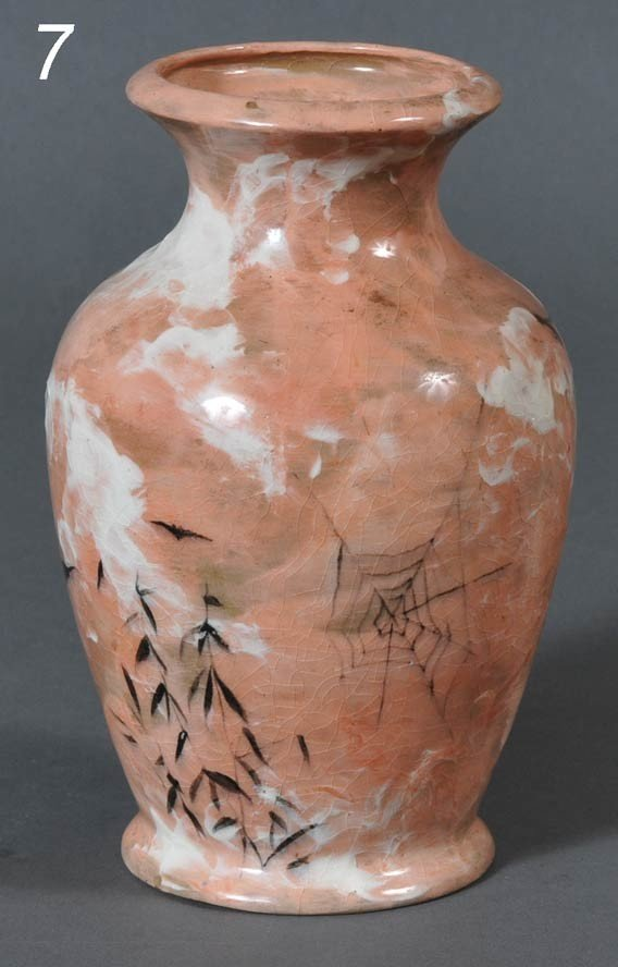 7: ROOKWOOD VASE decorated with bats and spider web in