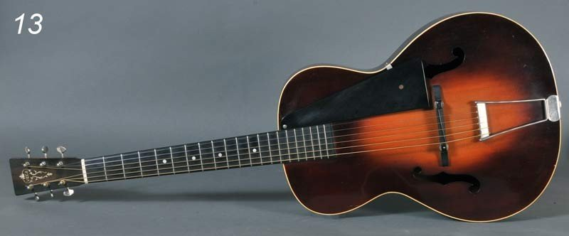 13: VEGA ARCH TOP ACOUSTIC GUITAR serial #376XX with ca