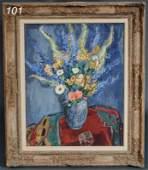 101: JAN SLUIJTERS (1881-1957) Flowers in a Delft Vase