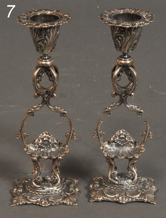 7: PAIR OF MICHAEL C. FINA STERLING CANDLESTICKS 6 1/2""