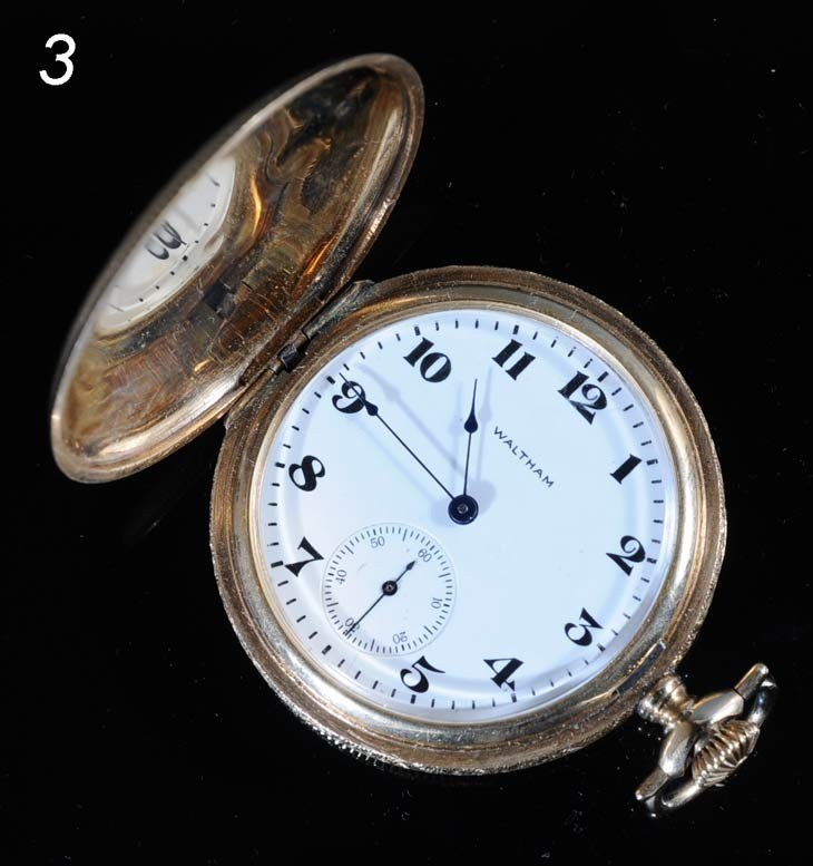 3: 14k GOLD POCKET WATCH Waltham early 20th century, 41