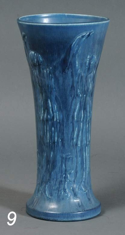 "9: ROOKWOOD POTTERY VASE designed by Louise Abel 13"" hi"