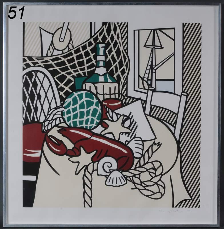 "51: ROY LICHTENSTEIN Still Life with Lobster, 1974 32""x"