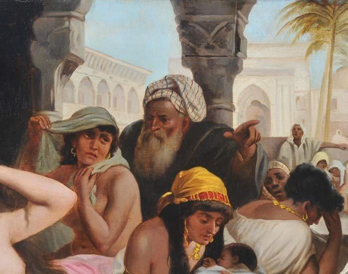 82: JOHN CALIFANO Orientalist Scene with Slave Girls 29 - 3