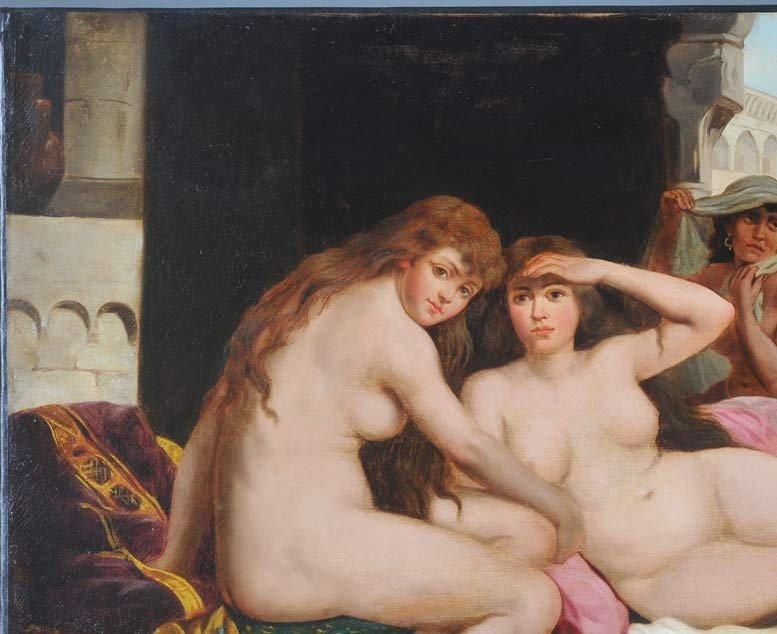 82: JOHN CALIFANO Orientalist Scene with Slave Girls 29 - 4