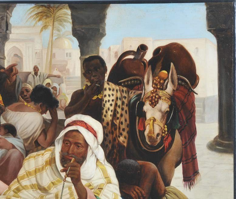 82: JOHN CALIFANO Orientalist Scene with Slave Girls 29 - 5