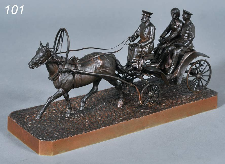 "101: VASILY GRACHEV Carriage Ride 12"" long, 5 5/8"" high"