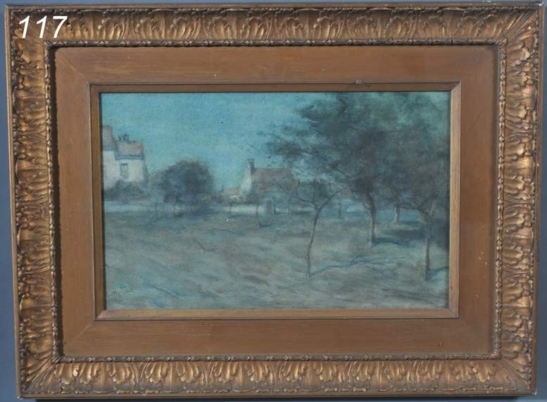 """117: AMERICAN SCHOOL signed """"Passelbach""""?, Nocturnal Or"""