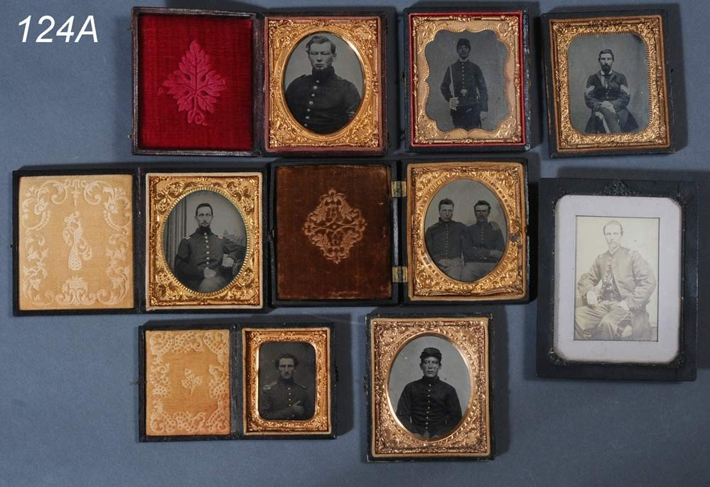 124A: COLLECTION OF CIVIL WAR CASED IMAGES (8)   Shippi