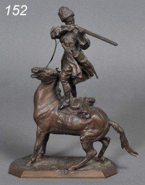 EVGENI LANCERAY Standing On The Saddle To Shoot 10
