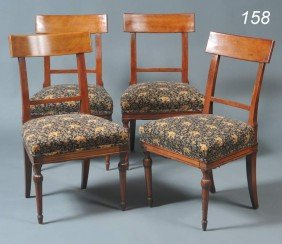 "SET OF FOUR WILLIAM IV MAPLE SIDE CHAIRS 34"" High"